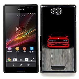 """Qstar Arte & diseño plástico duro Fundas Cover Cubre Hard Case Cover para Sony Xperia C (M3 E30 B M W"""")"""