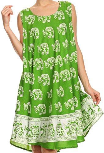 Cotton Batik Caftan Dress - 2
