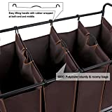 SONGMICS 4-bag Rolling Laundry Sorter with