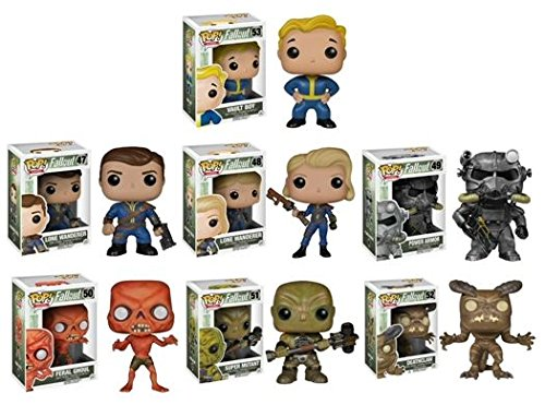 Funko POP! Fallout: Vault Boy / Lone Wanderer Male / Lone Wanderer Female / Power Armor / Feral Ghoul / Super Mutant / Deathclaw - Video Game Vinyl Figure Set NEW