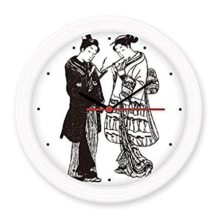 Japon Cultura Tradicional Negro Kimono Mujeres Samurai Espada Linea