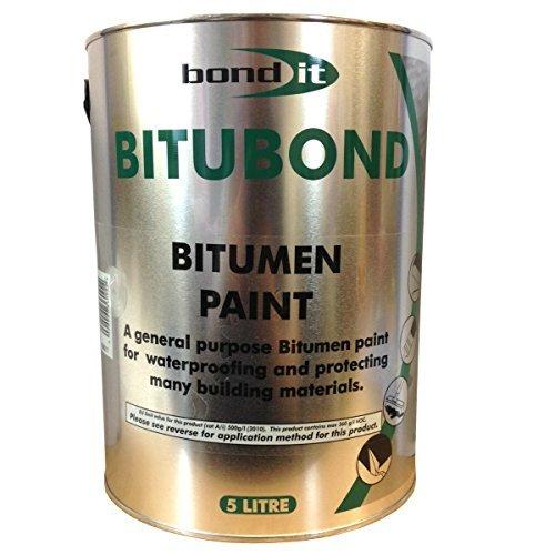 5ltr Bitubond Black Bitumen Paint Roof Repair