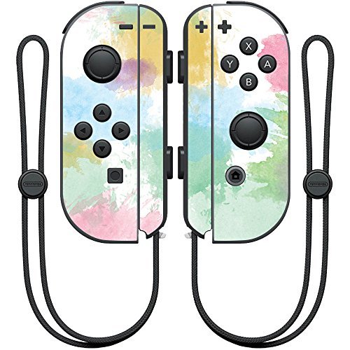 MightySkins Skin Compatible with Nintendo Joy-Con Controller wrap Cover Sticker Skins Watercolor Blue