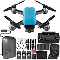 DJI Spark Portable Mini Drone Quadcopter Fly More Combo Hardshell Backpack Ultimate Bundle (Sky Blue)