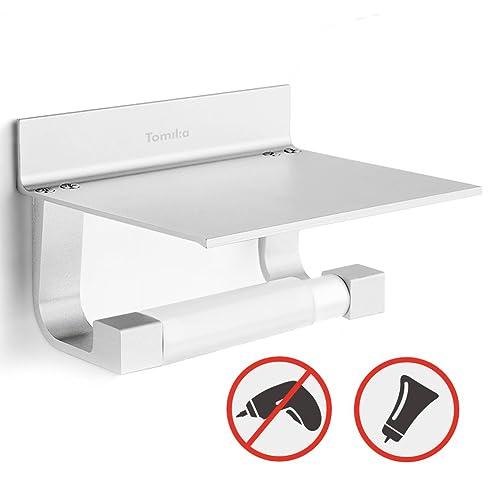 Tomika Toilettenpapierhalter Ohne Bohren, Aluminium