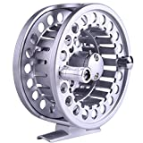 Sougayilang Fly Fishing Reel with Large Arbor 2+1 BB CNC Machined Aluminum Alloy