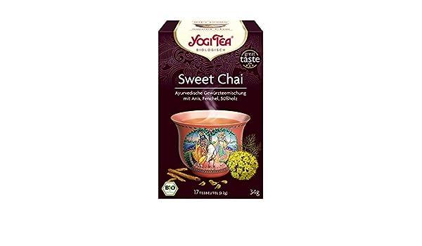 Yogi Tea Sweet Chai 17 Bag: Amazon.es: Alimentación y bebidas