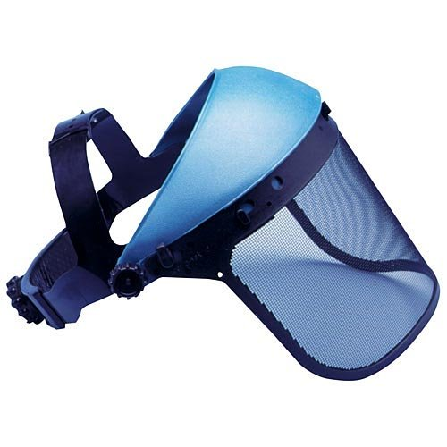 Headgear System with Wire Mesh Face Shield, Blue