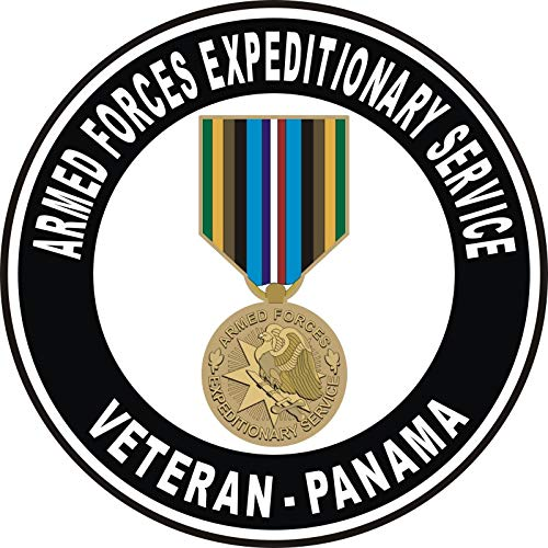 Armed Forces Expeditionary Medal Panama Decal Military Veteran Served Window Bumper Sticker Vinyl Decal 3.8