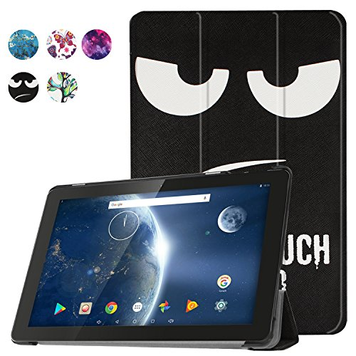 Dragon Touch X10 2017 Edition Case, Gylint Slim Thin Folio Protective Standing Pu Leather Case Cover For Dragon Touch X10 2017 Edition (Don't Touch My Pad) by Gylint