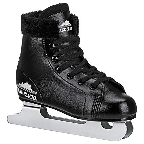 Lake Placid Starglide Boy's Double Runner Figure Ice Skate, Black, Y13