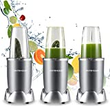 Blender,Countertop Blender,Smoothie Blender Make Smoothies Shakes and Frozen Drinks, 1000W and 2000RPM High Speed Motor BPA-Free Bottle Mixer System with Hardcover Recipe Book Included