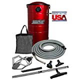 VacuMaid GV50RPRO Professional Wall Mounted Utility and Garage Vacuum with 50 ft Hose and Tools