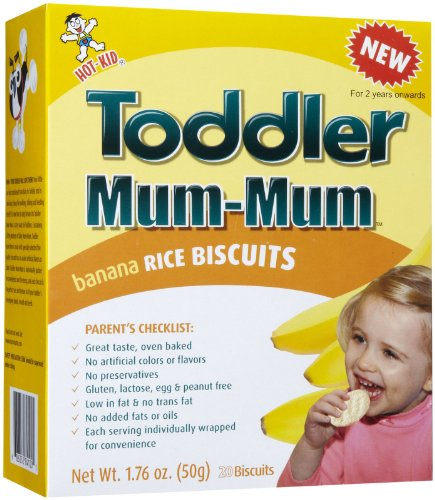 Mum Mum for Toddlers Rice Biscuits-Banana-1.76 Ounces-6 Pack