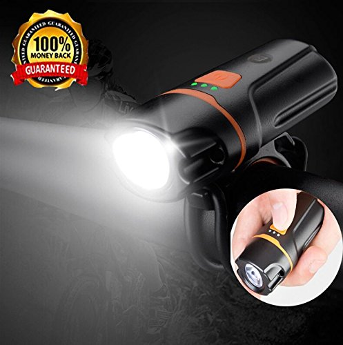 USB Rechargeable Bike Light Set - Super Bright LED Front and Back Light For Mountain Bike Road Bike Waterproof Bicycle Safety Cycling Flashlight For Kids Men Women -  DiKoMo