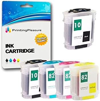 Printing Pleasure 5 Compatibles HP 10/82 XL Cartuchos de Tinta ...