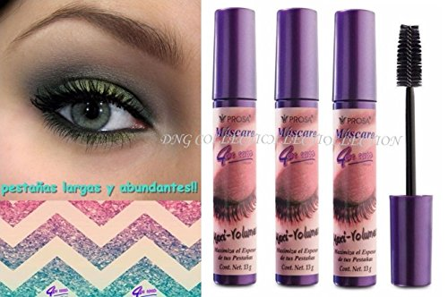 3 pcs PROSA MAXI VOLUME MASCARA 4 IN 1 EYELASHES LONGER AND THICKER ABUNDANTES! ()