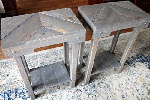 Nightstand Set of 2 Wood Pallet Furniture Night Stand End Table Pair