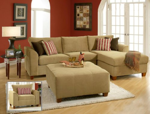 Chelsea Home Furniture Jefferson 2pc. Sectional, Bella Coffee