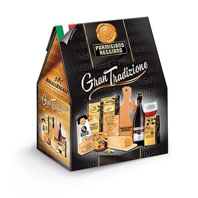 """Top Confezione regalo """"Gran Tradizione"""" Parmigiano Reggiano con 7  LO66"""