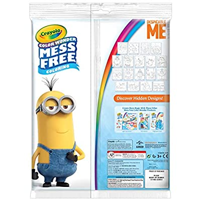 Crayola Color Wonder Despicable Me Coloring Pages, Mess Free Coloring, Gift for Kids, Age 3, 4, 5, 6, Model Number: 75-2499: Toys & Games