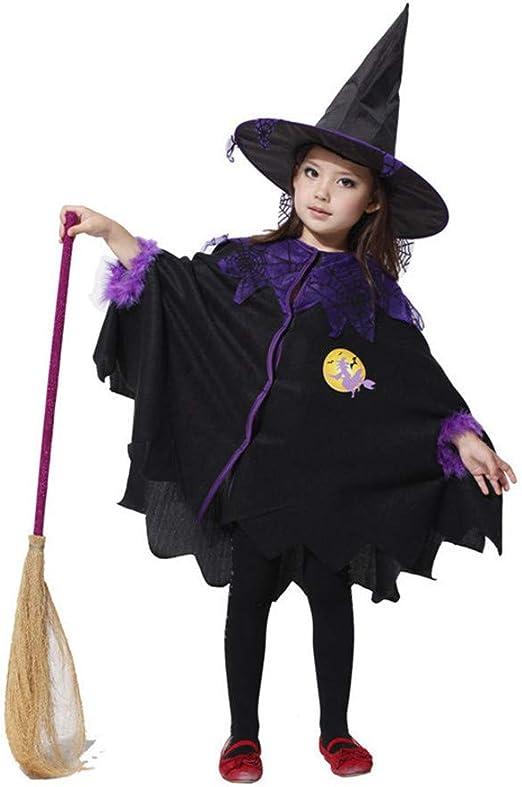 A_Feel Disfraz de Bruja Linda de Halloween para niñas Disfraz de ...