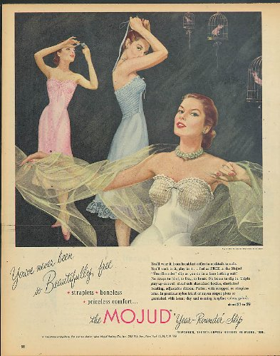 You've never been so Beautfully free Mojud Year-Rounder Slip ad 1951 ()