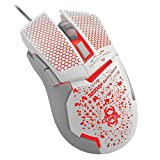 CLiPtec KORONO White 3200 Adjustable High DPI USB 2.0 Optical LED Light Illuminated 6 Button Wired Gaming Mouse Mice For Laptop PC Computer Mac