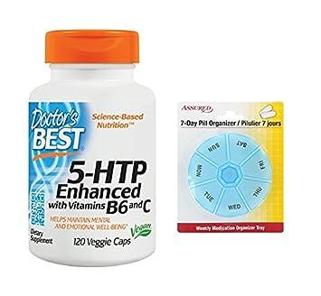 Mejor 5HTP mejorado del doctor con vitaminas B6 y C, conteo de 120