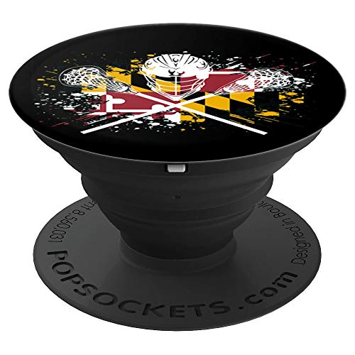 Maryland Lacrosse Crossed Sticks LAX MD Flag Cool Boys Girls PopSockets Grip and Stand for Phones and Tablets
