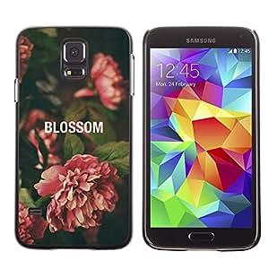 PC/Aluminum Funda Carcasa protectora para Samsung Galaxy S5 SM-G900 Begonia Vignette Green Nature / JUSTGO PHONE PROTECTOR