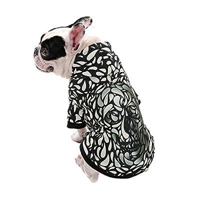 PAWZ Road Realistic 3D Digital Print Dog Hoodie, Pet Pullover Hooded Sweatshirt Hoodies for Small Medium Large Dogs by PAWZ Road