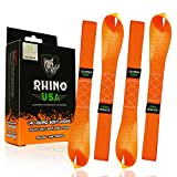 """RHINO USA Soft Loops Motorcycle Tie Down Straps (4pk) - 10,427lb Max Break Strength 1.7"""" x 17"""" Heavy Duty Tie Downs for use with Ratchet Strap - Secure Trailering of Motorcycles, Kayak, Jeep, ATV, UTV: more info"""