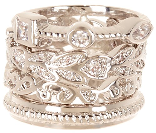 CZ Wholesale Gemstone Jewelry Stackable Ring Set