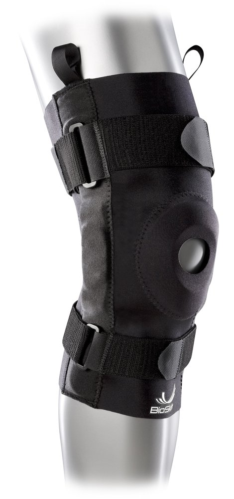 Hinged Knee Brace - Compression Knee Sleeve with Hinge for ACL, MCL, Meniscus & General Knee Pain - By BioSkin