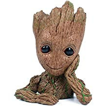 Baby Groot Flowerpot, The Guardians of Galaxy Flower Pot Cute Baby Action Figures Model Toy Pen Pencil Holder PVC Plant Holder