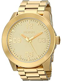 Men's Corporal Stainless Steel Watch One Size Gold Tone