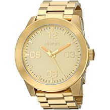 Nixon Corporal SS A346502-00. Gold Men's Watch (48mm Gold Watch Face. 24mm Gold Steel Band)