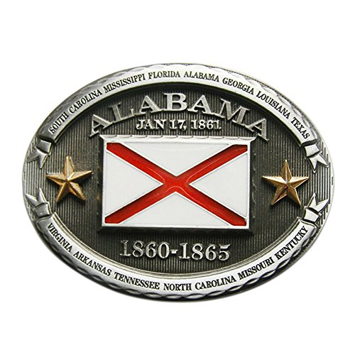 New Vintage Oval Alabama Flag Belt Buckle also Stock in US
