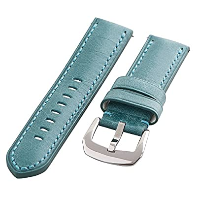 Clockwork Synergy Gentlemen's Collection - 20mm Blue Washed Leather Watch Band by Clockwork Synergy, LLC