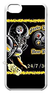 Hard Plastic Protective Case Cover for Iphone 5c,The Pittsburgh Steelers Case Shell for Iphone 5c.