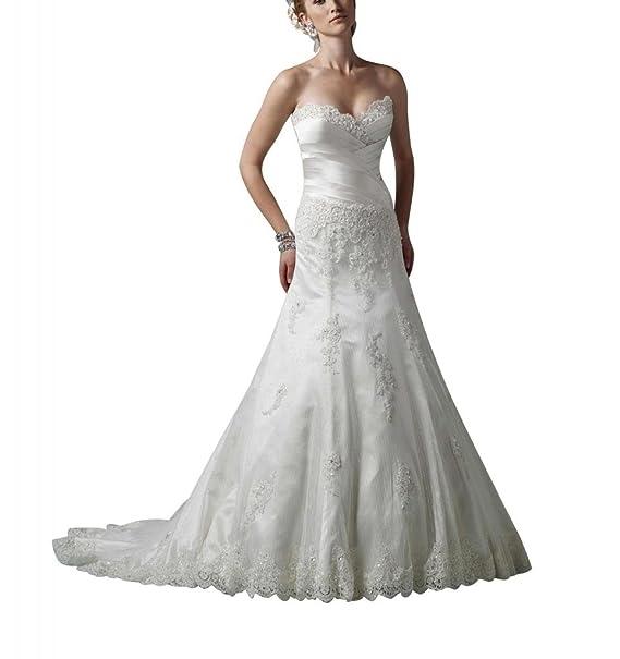 George Bride goettin satén y Net feinwa Fresno Aplicaciones vestido de novia Vestidos de novia Vestidos