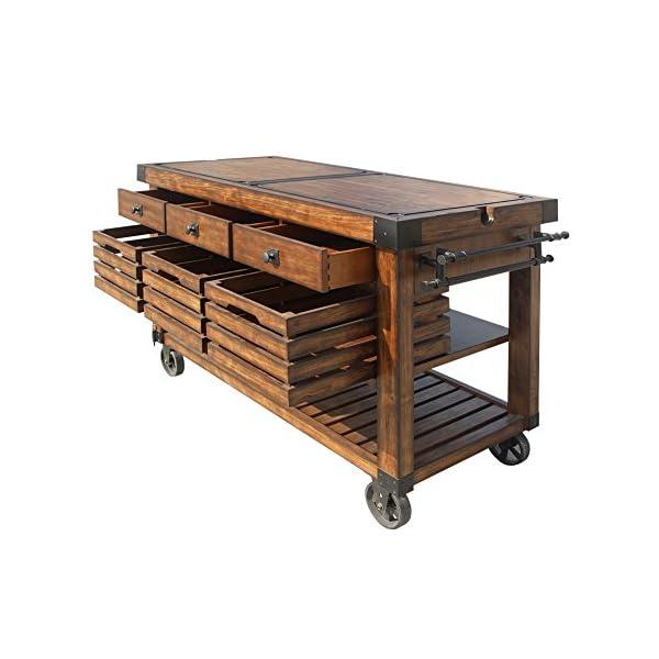 ACME Furniture Kitchen Cart, Distress Chestnut