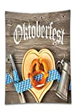 vinal cutting machine - Interestlee Satin drill Tablecloth?Oktoberfest Decorations Collection Oktoberfest Beer Festival Cutlery Ribbon and Cutting Board on Restaurant Table Blue Gray Dining Room Kitchen Rectangular Table Cov