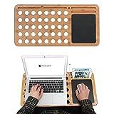 Best Tablet Holders For Blackberries - JackCubeDesign Bamboo Laptop Lap Desk Pad Board Notebook Review