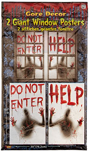 2 Piece Giant Bloody Window Posters Halloween Party (Window Halloween)