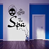 N.SunForest Wall Decal The Spa Sign Facials Mask Mudpack Rejuvenation Beauty Salon Body Massage Vinyl Sticker Home Decor