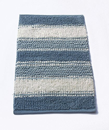 "Chardin home Newport Soft and Durable Tissue/Chenille Rug, Cotton Poly Blended Bathroom Mat or Accent Rug, 20"" W x 32"" L, Blue/White - Handcrafted using recycled cotton blended fibers & cotton chenille These tissue rugs are incredibly soft , comfortable and extremely durable The tissue rug is great for bathrooms or an accent rug for bedroom, kitchen & other areas of home - bathroom-linens, bathroom, bath-mats - 51btyjUY93L -"
