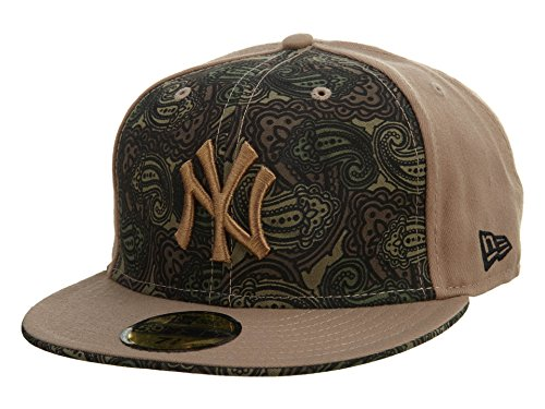New Era New York Yankees Fitted Hat Mens Style: NYYANKEE02-001 Size: 7 7/8 Khaki/Brown ()