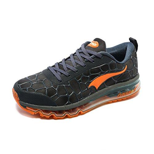 Athlétique Air Marche Course Hommes Running Max Lac Orange ONEMIX Baskets Chaussures Femmes Bleu Fitness pour Coussin Sport et Sneaker de OpBxtxq